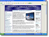 Plasma Television website